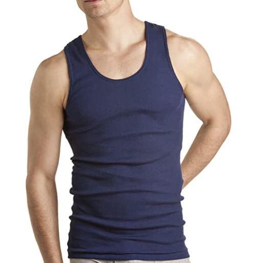 Bonds Men's Cotton Chesty Singlet, Dark Blue 2Pk, 14