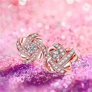 SimplySelena Cosmo Earrings in Rose Gold