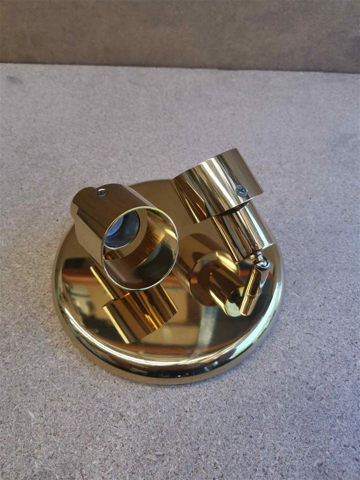 Domus LED compatible Retro Dual Head Lighting - Gold RRP $72.95