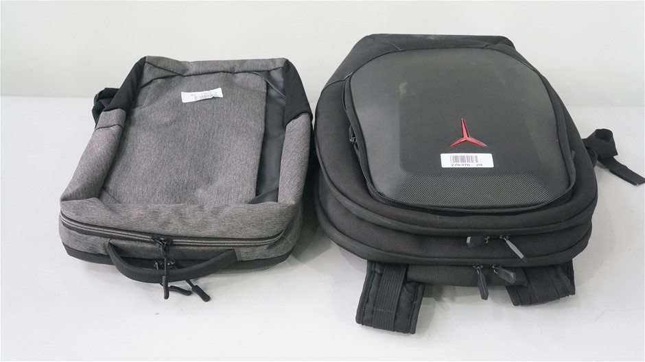 Box of USED/UNTESTED Lenovo Backpacks