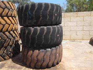 3x Bridgestone Heavy Machinery Tyres