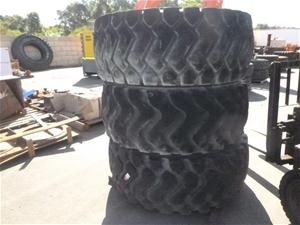 3x Triangle Heavy Machinery Tyres