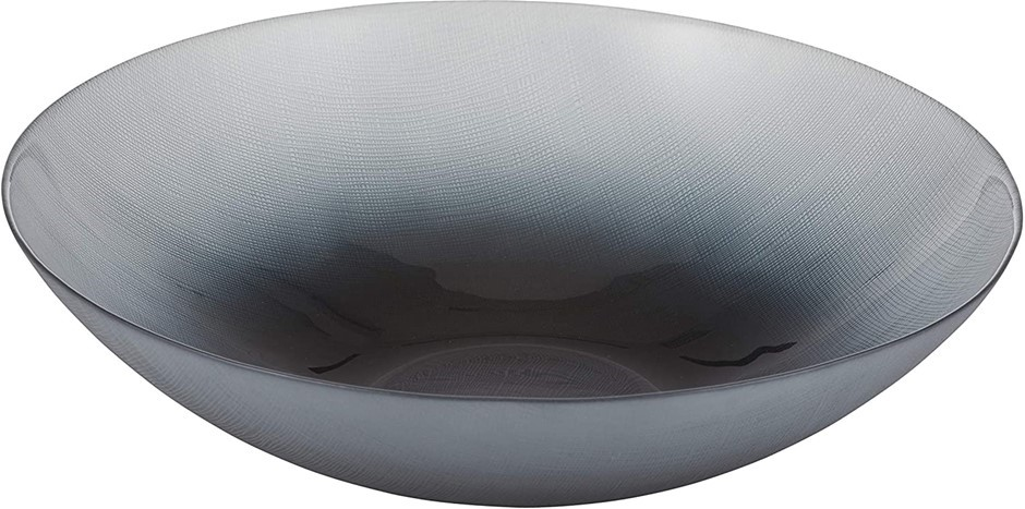 ANYA Ingrid Shallow Bowl, Constructed from glass, 33 x 33 x 8 cm, Hand wash