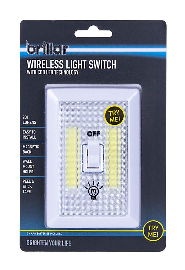 Wireless Light Switch with COB LED Technology