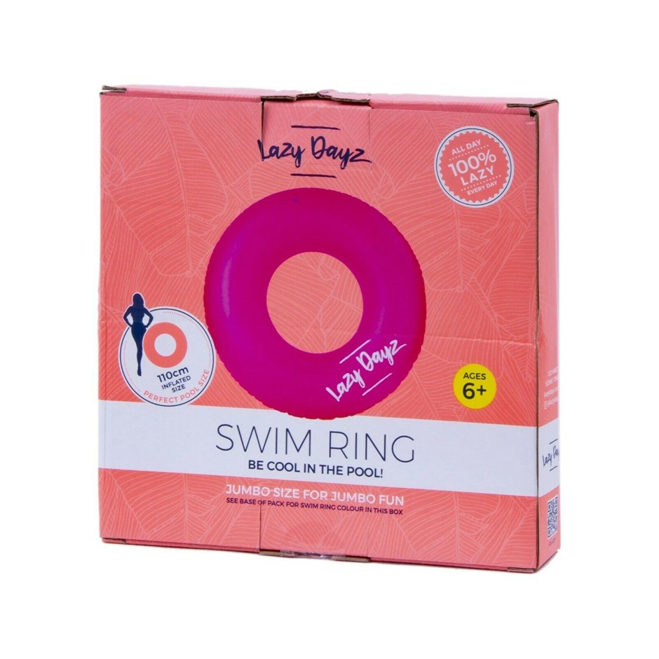 Pool Float Inflatable Swim Ring Teal/Pink - Pink