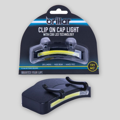 Hat Clip on Cap Light with COB LED Technology