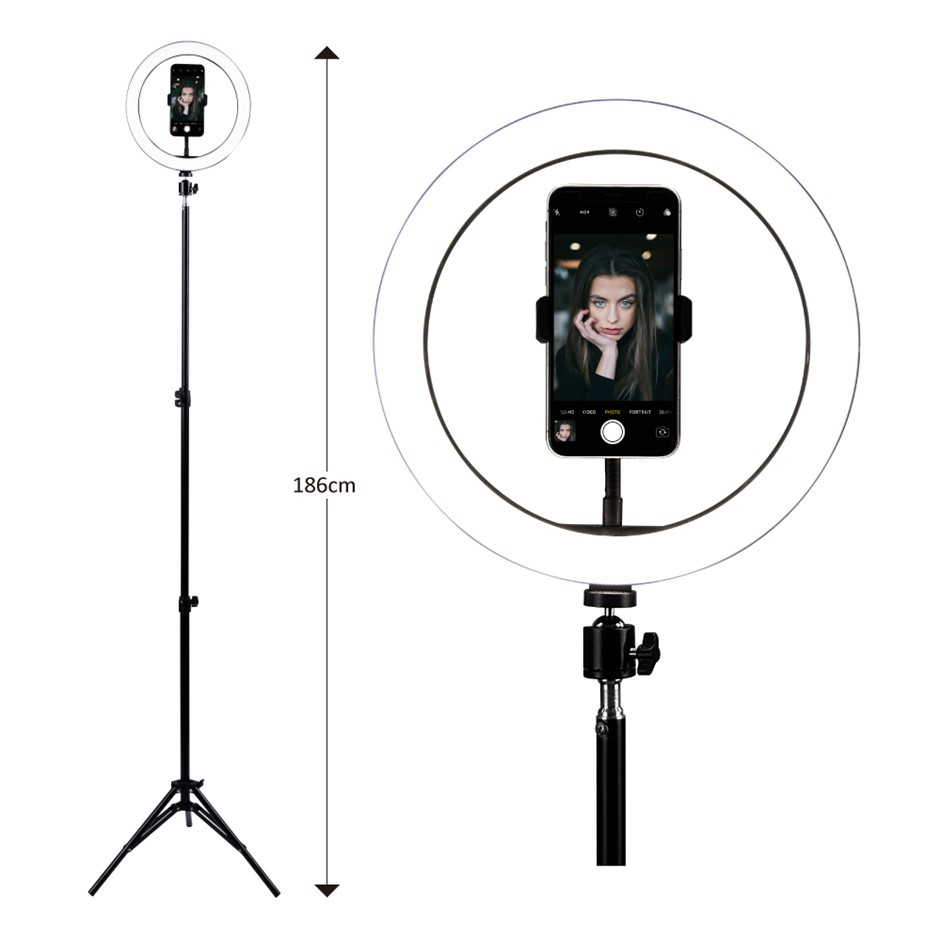26cm LED Selfie Ring Light with Stand and Phone Holder Circle Lightning