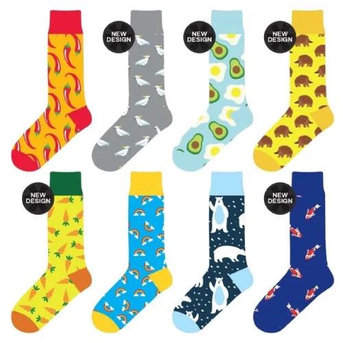 8 Pairs Unisex Novelty Crew Sock Cotton #4