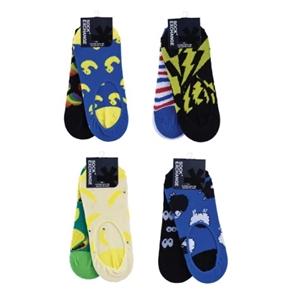 8 Pairs Unisex Novelty No Show Sock Cott