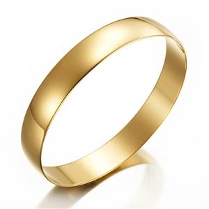 18ct Yellow Gold Layered Plain Bangle -