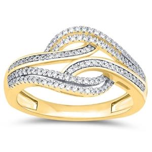 9ct Yellow Gold, 0.21ct Diamond Ring