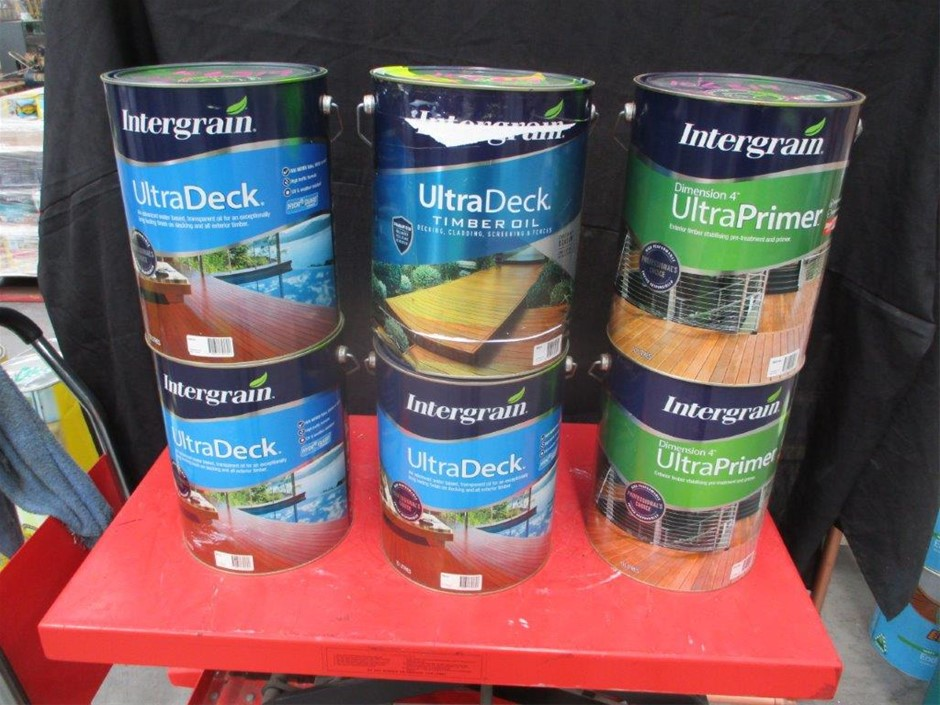 Qty 6 x Intergrain 10 Litres Timber Oil