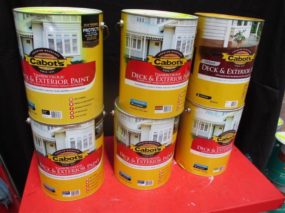 Qty 6 x Cabot's Timber Paint & Stain