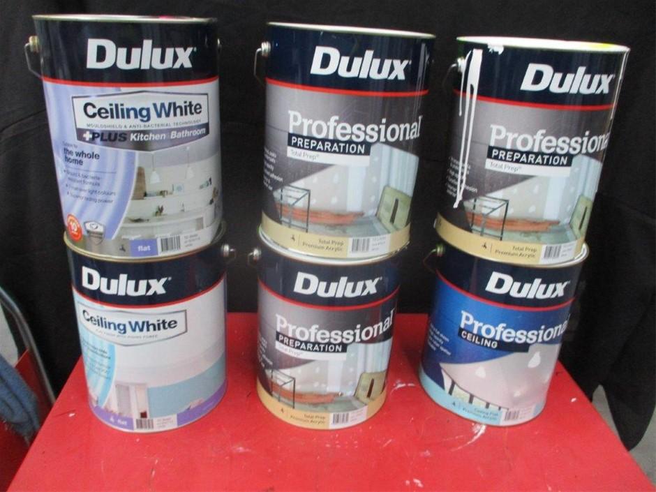 Qty 6 x Dulux 10 Litres Assorted Paint