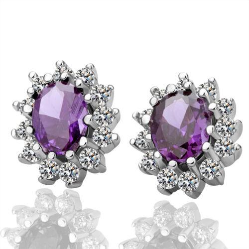 18K White Gold Filled Classic SWAROVSKI Crystal Stud Earrings