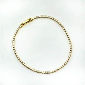 18K Yellow Gold Plated Tennis Bracelet w