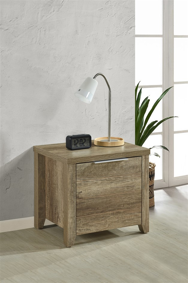 Bedside Table 2 drawers Storage Table Night Stand MDF in Oak