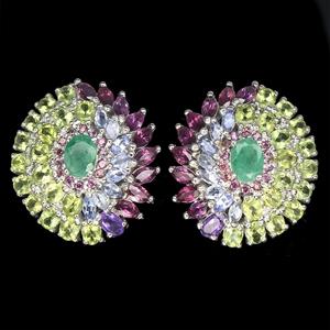 Gorgeous Emerald, Peridot, Garnet, Tanza