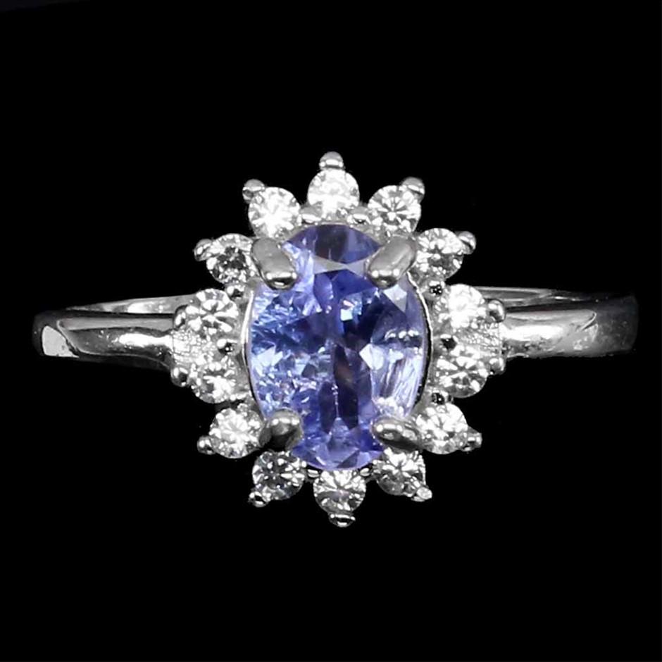 Striking Genuine Tanzanite Ring