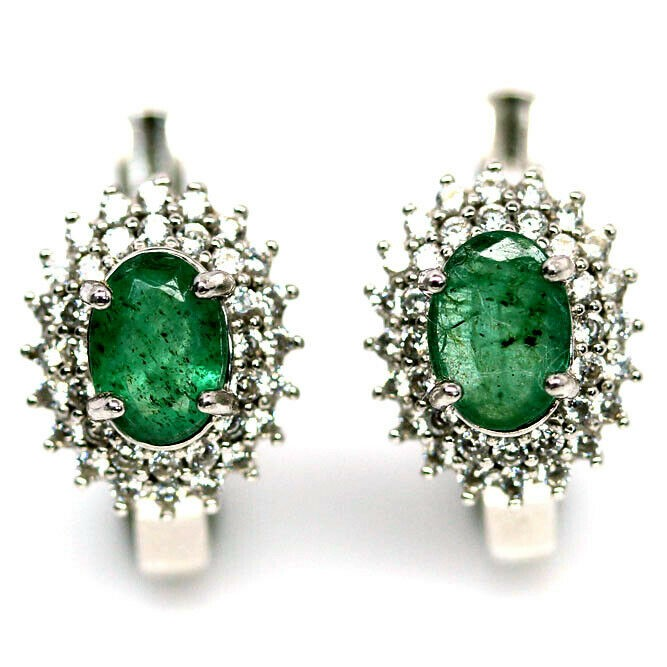 Gorgeous Genuine Emerald Earrings.