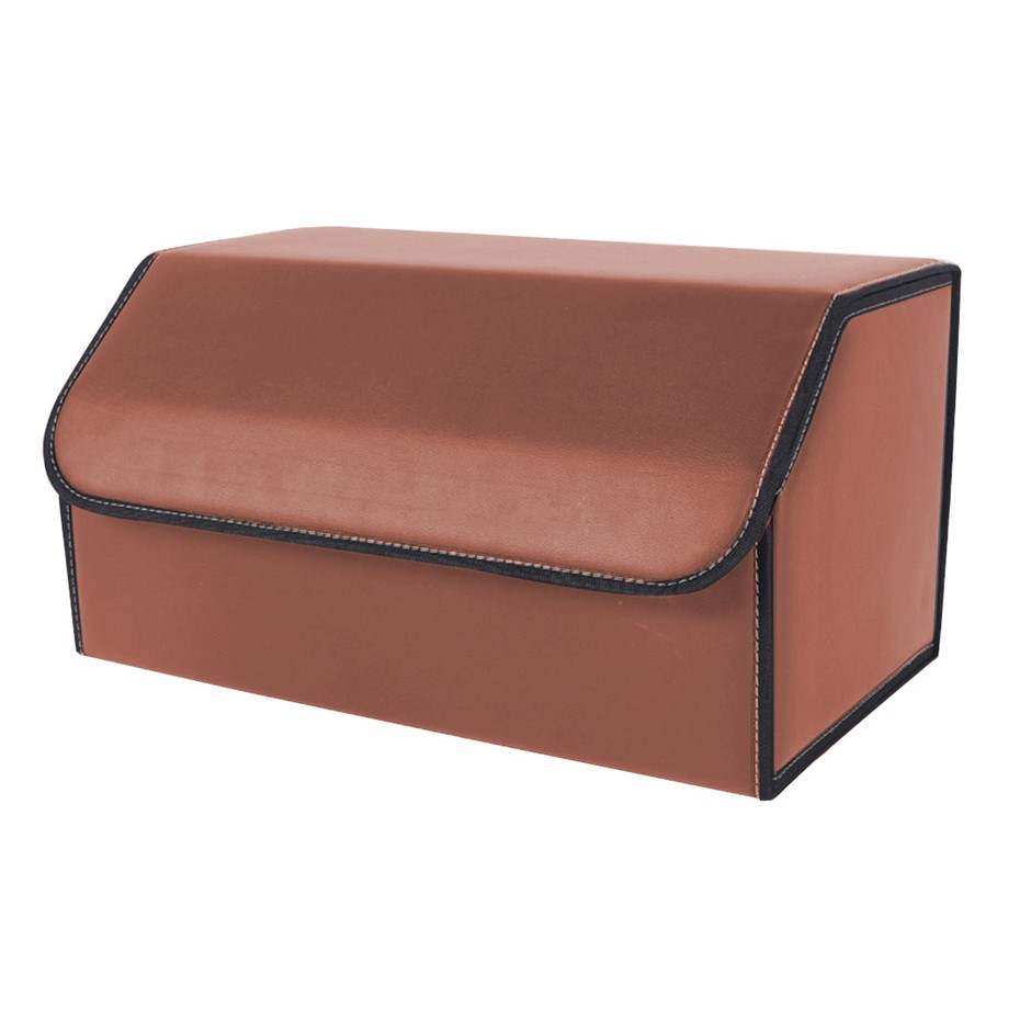 SOGA Car Boot Collapsible Storage Box Coffee Large