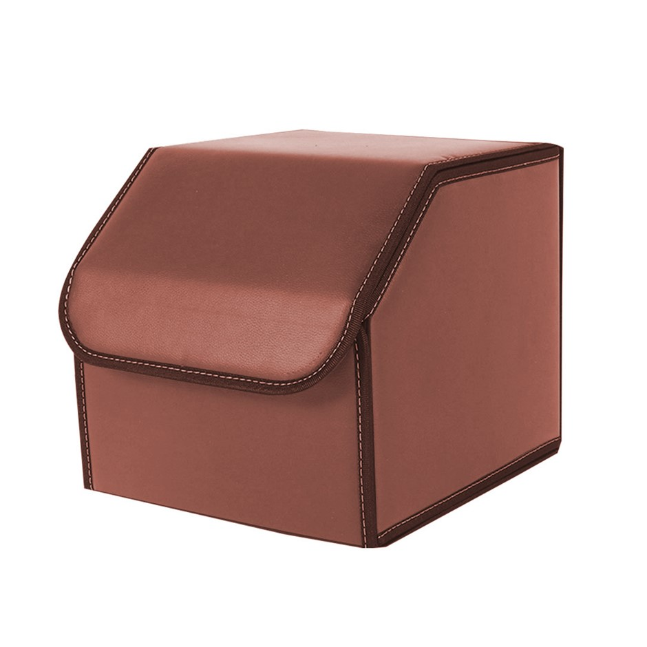 SOGA Car Boot Collapsible Storage Box Coffee Small