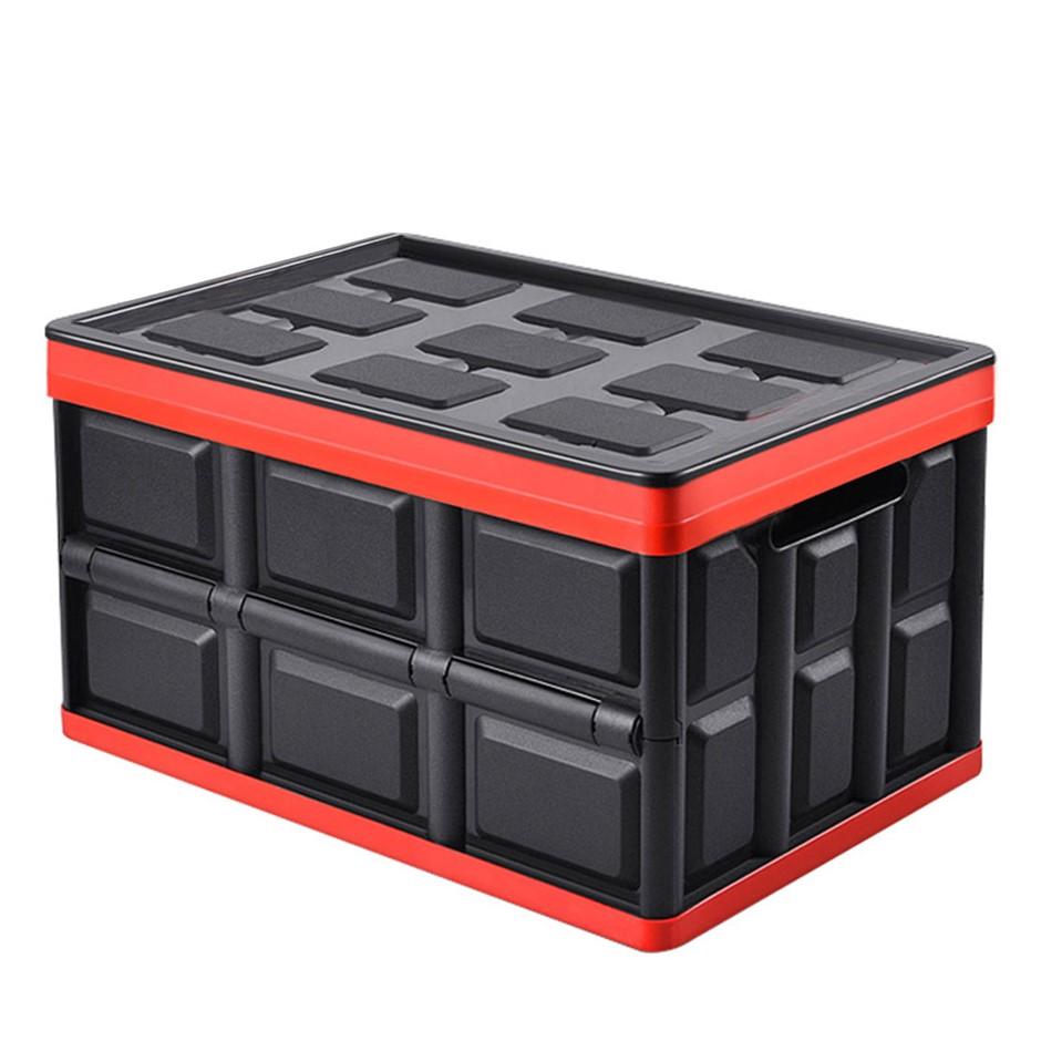 SOGA 56L Collapsible Car Trunk Storage Box Black