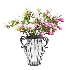 SOGA Flower Vase & 6 Bunch 4 Heads Artif