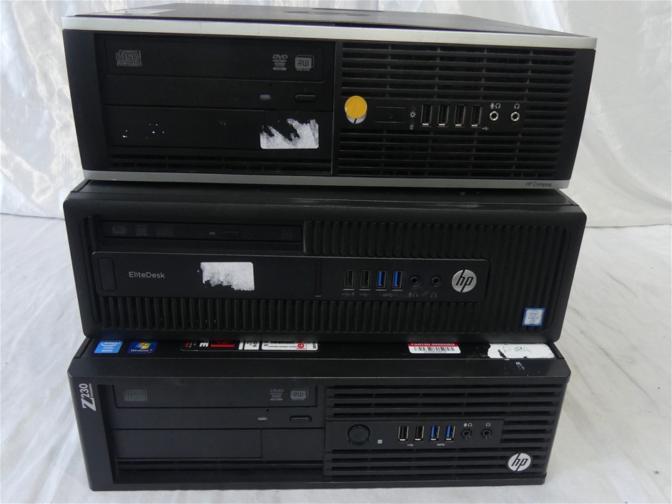 Box Of HP Desktop Approx Includes 1 x HP Compaq Elite 8300 S