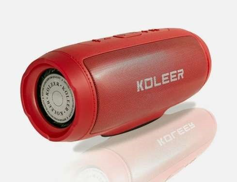 KOLEER Portable Bluetooth Wireless Speaker S1000 (Red)