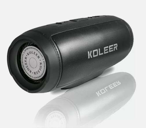 KOLEER Portable Bluetooth Wireless Speaker S1000 (Black)