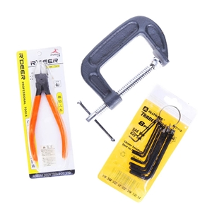 8 x Assorted Tools incl 3 x Hex Key Sets