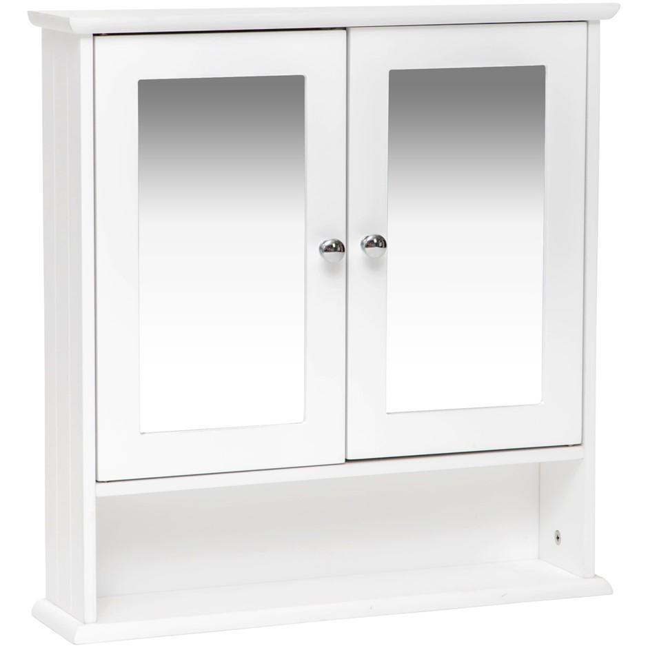 Maine Double Door Mirror Cabinet - White