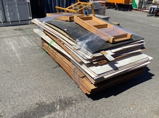 Pallet Containing Large Quantity of Plywood Sheets