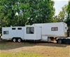 1980 Custom Made Gooseneck Tandem Horse Float Trailer