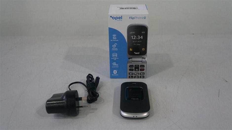 Opel FlipPhone2 3G 4GB 2.4-Inch Mobile Phone, Black