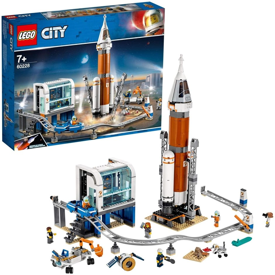 LEGO City Deep Space Rocket and Launch Control Building Kit, Space Toy for