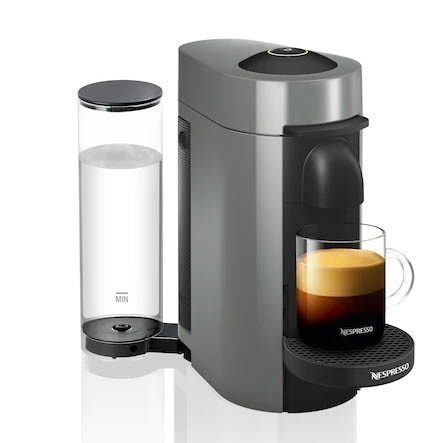 NESPRESSO Vertuo Plus Coffee & Espresso Machine, Grey. (SN:CC63455) (279459