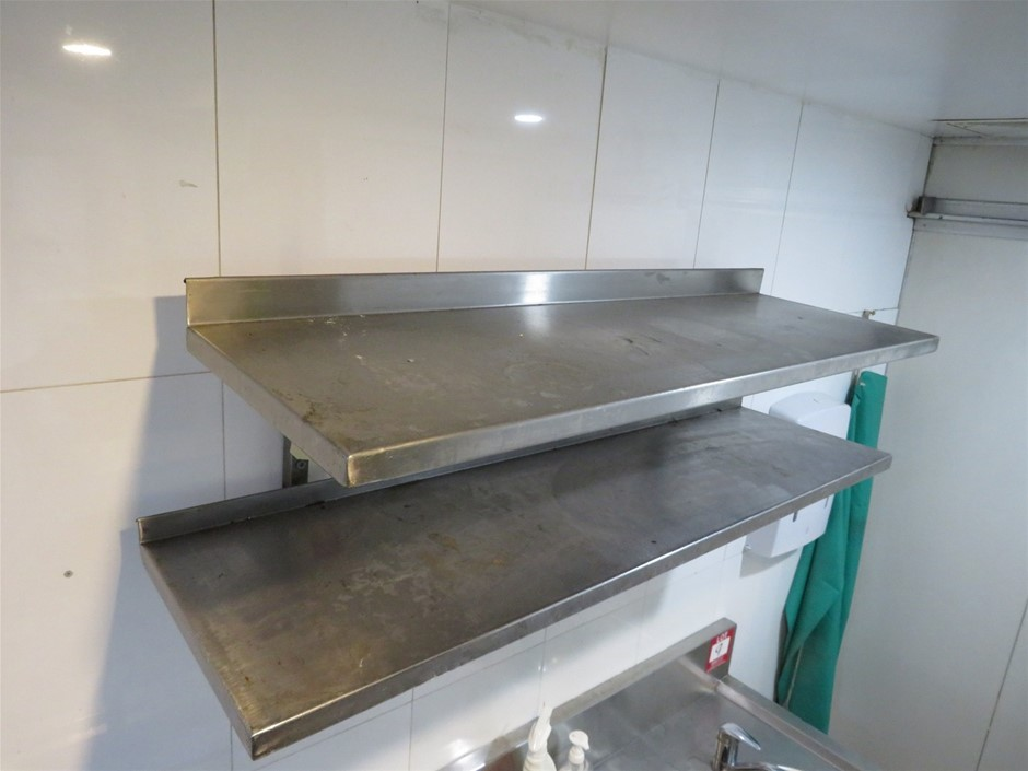 Twin Stainless Steel Wall Mounted Shelves