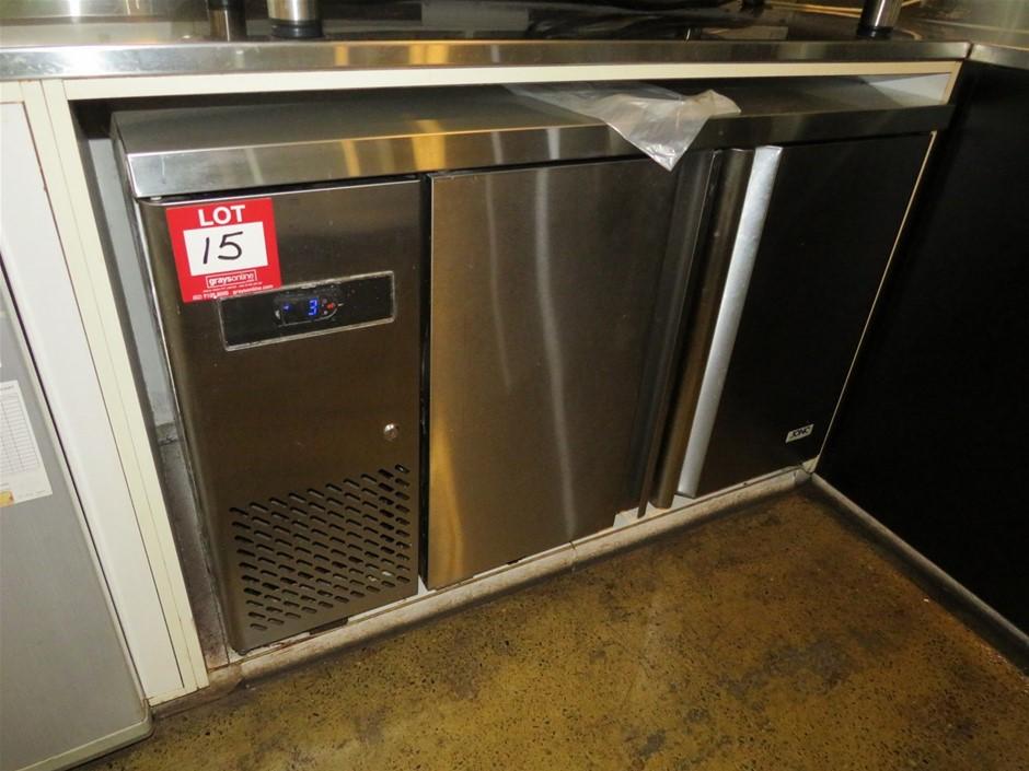 Jono, Stainless Steel Underbench 2 Door Refrigerator