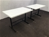 <p>Qty 2 X Isotop Tables</p>
