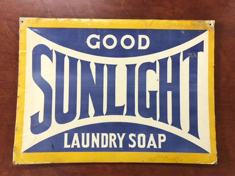 Authentic Good SUNLIGHT Laundry Soap Sign