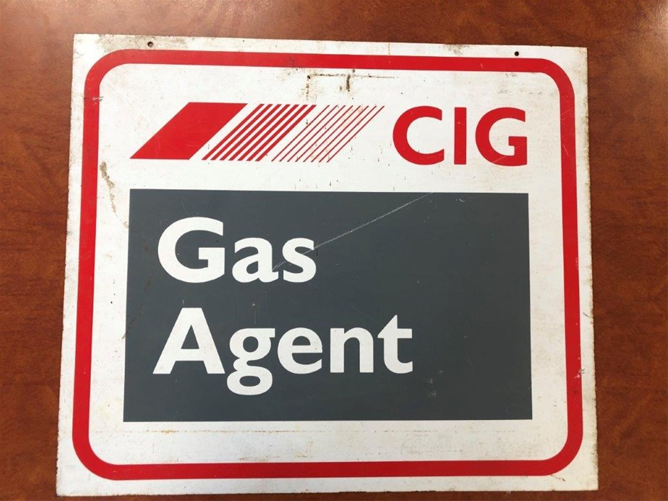 Authentic CIG Gas Agent Double Sided Sign