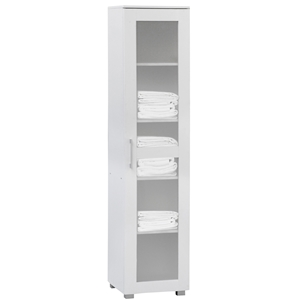 Aspen Cupboard Single Door Tall White