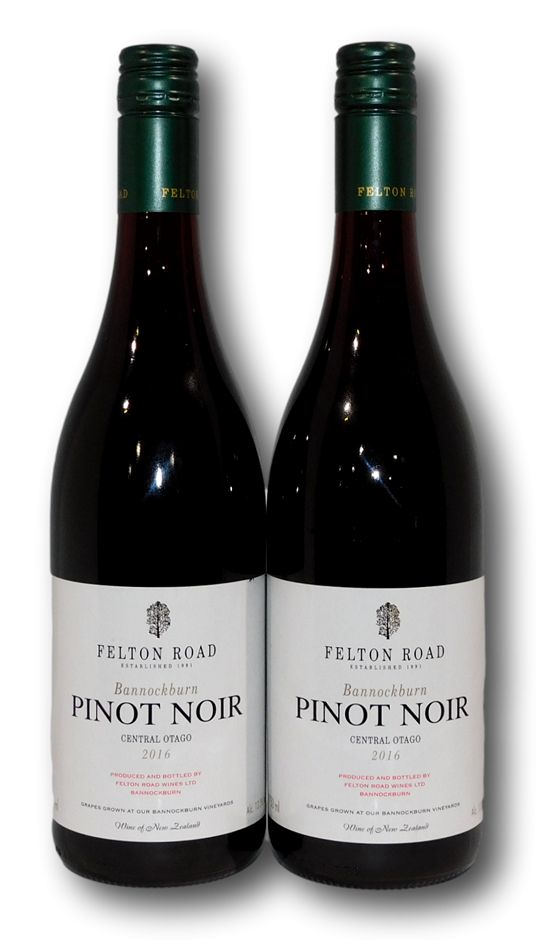 Felton Road Bannockburn Pinot Noir 2016 (2x 750mL), Central Otago