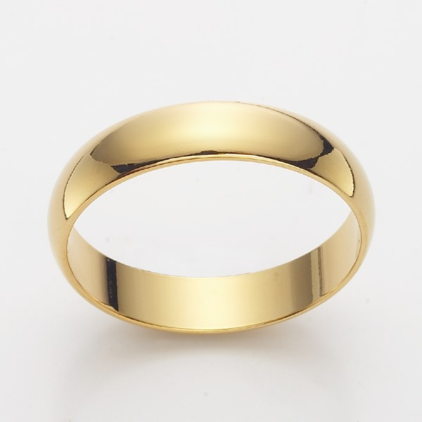 18ct Yellow Gold Layered Men's Band Ring - US Size 13