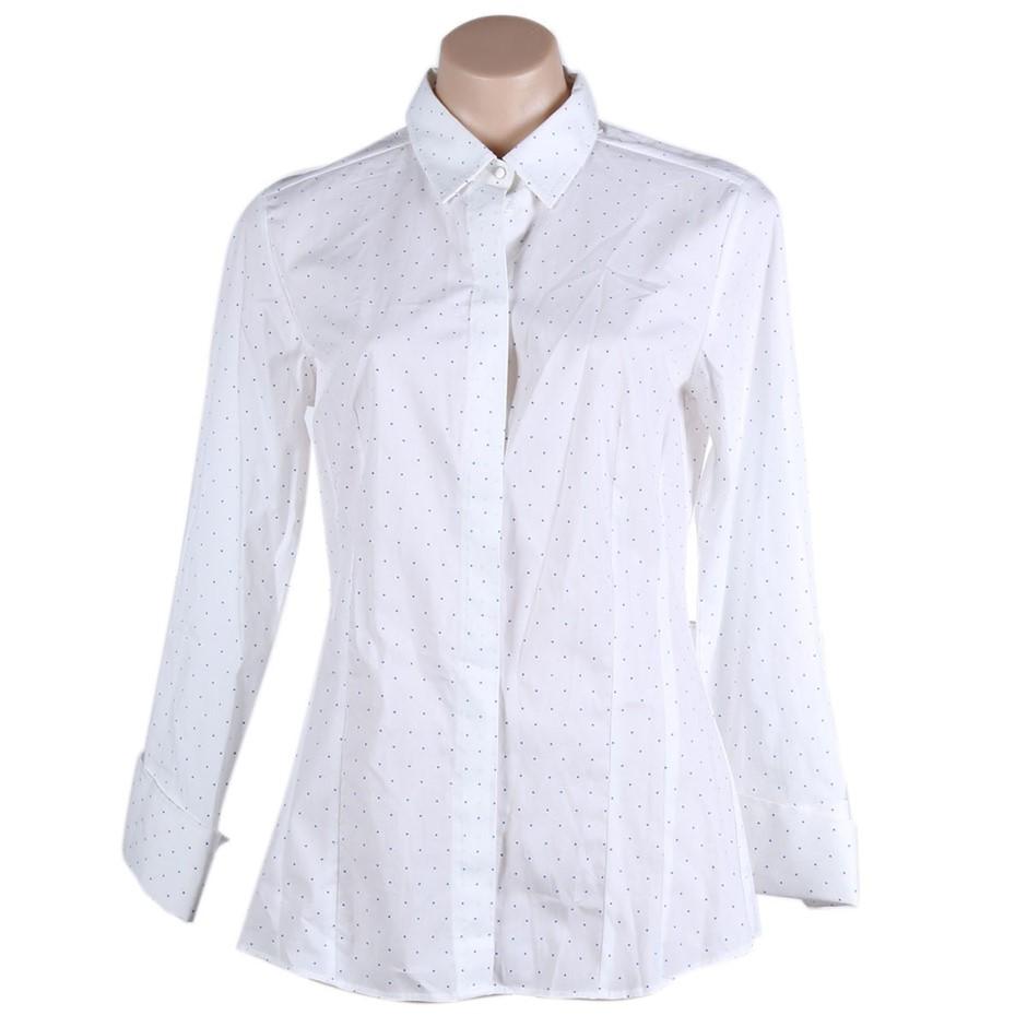 STUDIO W Spot Dress Shirt. Size 18, Colour: Blue/White. Buyers Note - Disco