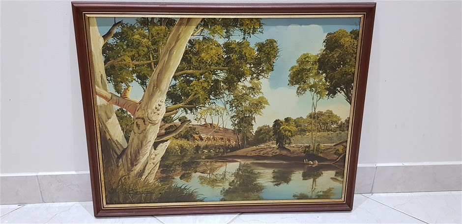 River Scene With Ghost Gums