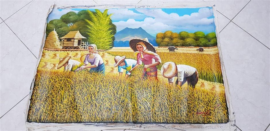 Asian Rice Picking
