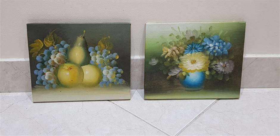 Set Of 2 Fruit & Flower